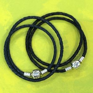Pandora leather double wrap bracelets small